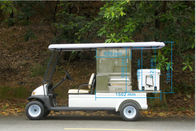 Safety Low Speed Electric Car Golf Cart , 2 Seater Golf Cart PP Material