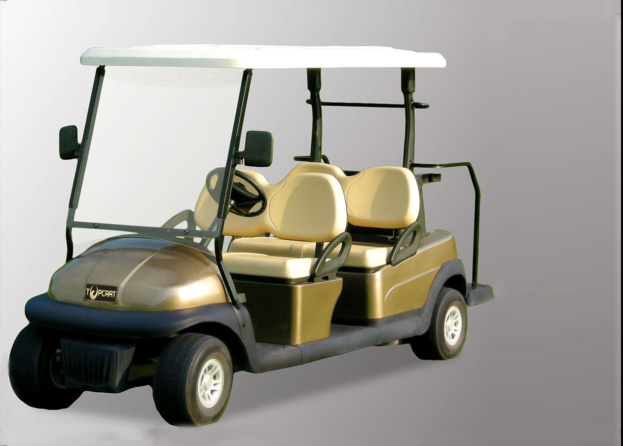Champagne Color 4 Seater Golf Cart Electric Vehicles With 3.7kw KDS Motor