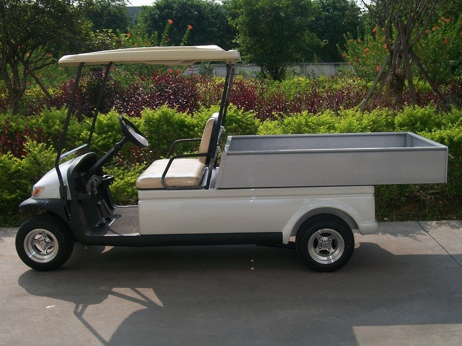 White Color Small Electric Utility Vehicles Car With 3.7kw KDS Motor , Cargo Box