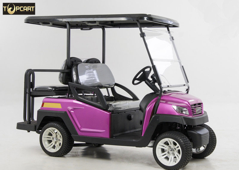 Energy Saving 4 Seater Battery Powered Car Golf Cart With Brake System