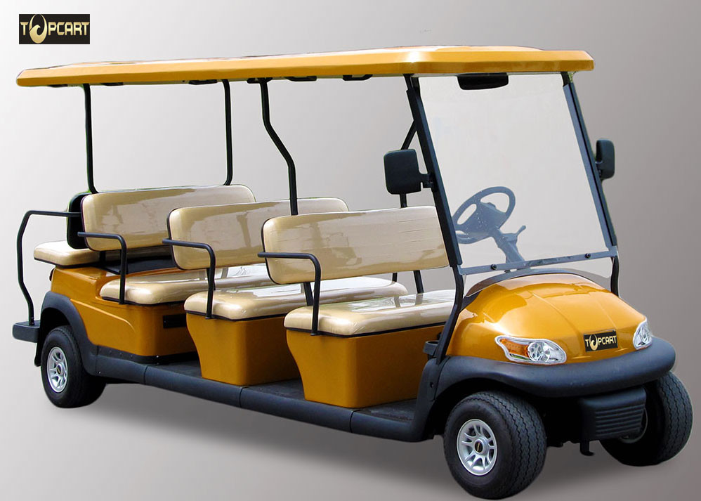 Colorful 11 Person Multi Passenger Golf Carts For Reception CE Approved