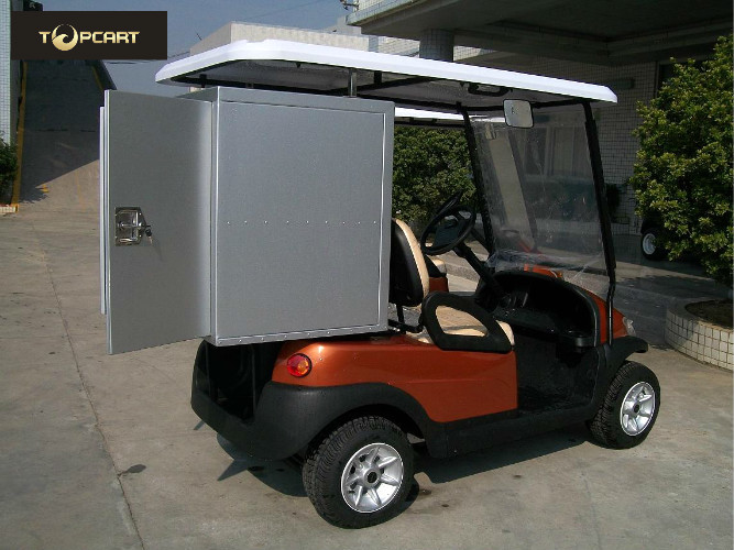 Electric Golf Buggy 2 Seater Golf Carts with Aluminum Sealing Layer 2 Containers