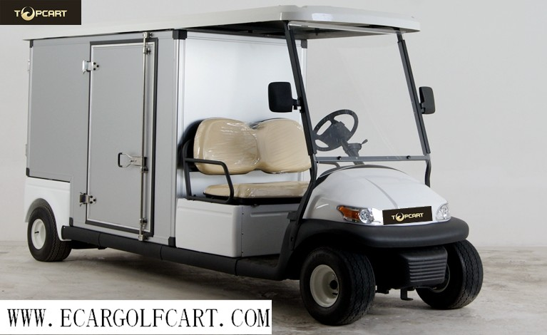 Hotel Custom Electric Golf Carts Electric Utility Carts With 48v Battery Power , Aluminum Box