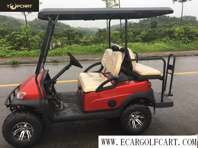 Off Road 4 Seater Electric Golf Buggy With Aluminum Chassis , Battery Powered