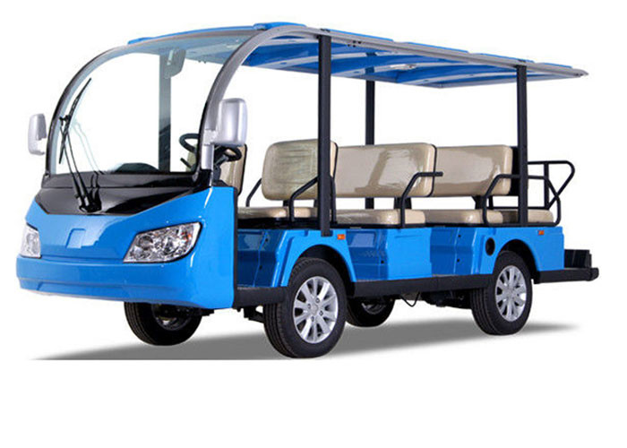 11 Seats Electric Sightseeing Bus 4 Wheel Electric Shuttle Car