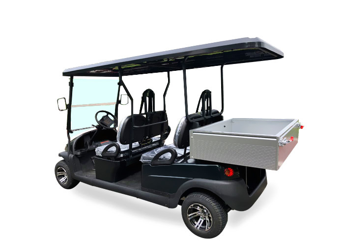 Patrol Battery Powered Utility Golf Cart With Aluminum Chassis And Stainless Box