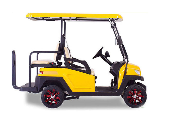 Custom 4 Wheel Golf Cart Four Seater Tourist Electric Sightseeing Car Battery Operated